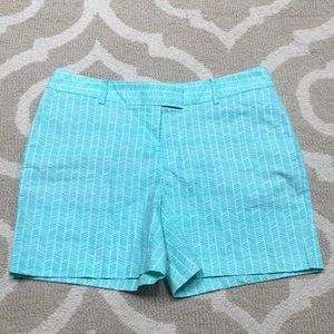 Nautical Teal Patterned Shorts size 4